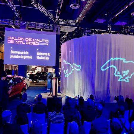 Journée de presse du Salon de l'Auto. 250 journalistes et invités pour assister à la cinquantaine de dévoilements et présentations.