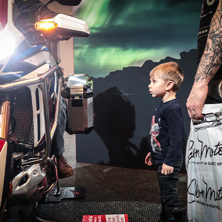 La passion débute tôt au Salon de la moto !